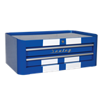 Mid-Box 2 Drawer Retro Style - Blue with White Stripes AP28102BWS Spare Part Image