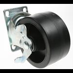 Wheel,swivel castor, 4 bolt (w/brake)(D:100 W:50 B:10 H:127) AP28204.04 Spare Part Image