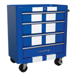 Rollcab 4 Drawer Retro Style - Blue with White Stripes AP28204BWS Spare Part Image