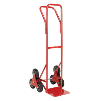CST985 Sack Truck Stair Climbing 150kg Capacity • Tubular steel construction gives 150kg maximum load capacity.