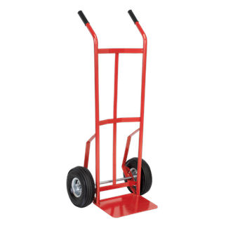 CST987 Sack Truck with Pneumatic Tyres 200kg Capacity • Extra strong tubular steel frame construction.