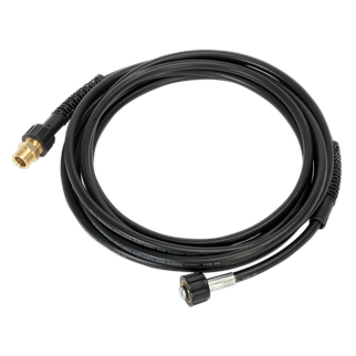 """PCAK12 Pressure Washer Extension Hose 6m • 6m High quality kink resistant hose provides increased reach of pressure washer. • Fitted with 3/4""""BSP thread. • Compatible with most leading brand pressure washers and screw thread lances.  • Applications: PW1600, PW1750, PW2000. Product Image"""