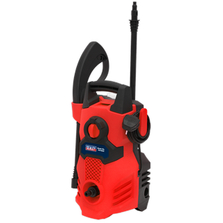 PW1500 Pressure Washer 105bar with TSS 230V • Lightweight and powerful entry level unit, designed for domestic and light trade use. • Ideal for a range of applications including cleaning vehicles, patios, decking, motorbikes and barbecues. • Fitted with a powerful 1400W motor with 300 litre water flow per hour and a maximum pressure output of 105bar. • Features Automatic Total Stop System (TSS) which switches the motor on and off when the trigger is operated, prolonging motor life. • Fitted with accessory storage and hose/cable hook to ensure unit stays clutter-free and mobile. • Supplied with 3m hose, spray gun, lance and detergent bottle. • Weighs just 4.66kg for ease of manoeuvrability. Product Image