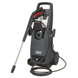PW2200 Pressure Washer 140bar with TSS & Rotablast Nozzle 230V • Semi-professional, heavy-duty unit for extensive domestic and light commercial use. • Powerful 1800W motor with a 400L/hr water flow rate and a maximum pressure of 140bar. • Automatic Total Stop System (TSS) which switches the motor on and off when the lance trigger is operated, prolonging the motor life. • Dual built-in detergent tanks, enable the user to switch between two different cleaning products by simply using the detergent selection control. • High quality polished chrome and brass fittings. • Hose hanging hook, accessory storage on the back of the unit and side mounted gun and lance holder ensuring the unit stays clutter-free and fully mobile. • Supplied with 5m hose, variable nozzle and Rotablast® nozzle which helps develop the same Effective Cleaning Power (ECP) as a 257bar/3727psi pressure washer. • Heavy-duty composite wheels. • Supplied with power cable fitted with 13Amp plug. Product Image