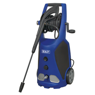 PW3500 Professional Pressure Washer 140bar with TSS & Rotablast Nozzle 230V • High performance, professional unit specifically designed for rigorous domestic, industrial and agricultural use. • Ideal for an extremely wide range of applications including cars, 4x4s, tractors, motorbikes, ATVs, patios and decking. • Fitted with a 2100W induction motor with a 420L/hr water flow rate and a maximum pressure of 140bar. • Features Automatic Total Stop System (TSS) which switches the motor on and off when the lance trigger is operated, prolonging the motor life. • Features innovative accessory storage on back of unit and 8m high pressure hose reel ensuring the unit stays clutter-free and fully mobile. • Fitted with brass fittings, aluminium head, integral pressure gauge and water filter system. • Supplied with 1.2L built-in adjustable detergent tank, variable nozzle and Rotablast® nozzle which helps develop the same effective cleaning power (ECP) as a 240bar/3485psi pressure washer. • Supplied with power cable fitted with 13Amp plug. Product Image