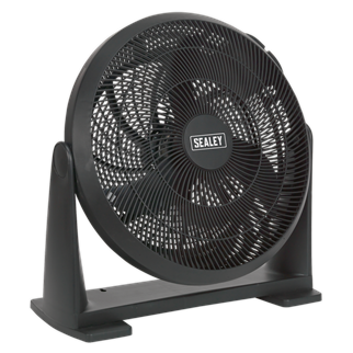 """SFF16 Desk/Floor Fan 3-Speed 16"""" 230V • Manufactured from durable composite material, ergonomically designed to pivot on a 180° axis, maximising the volume and direction of airflow. • Features three speed settings. • Fitted with 3-pin plug. Product Image"""
