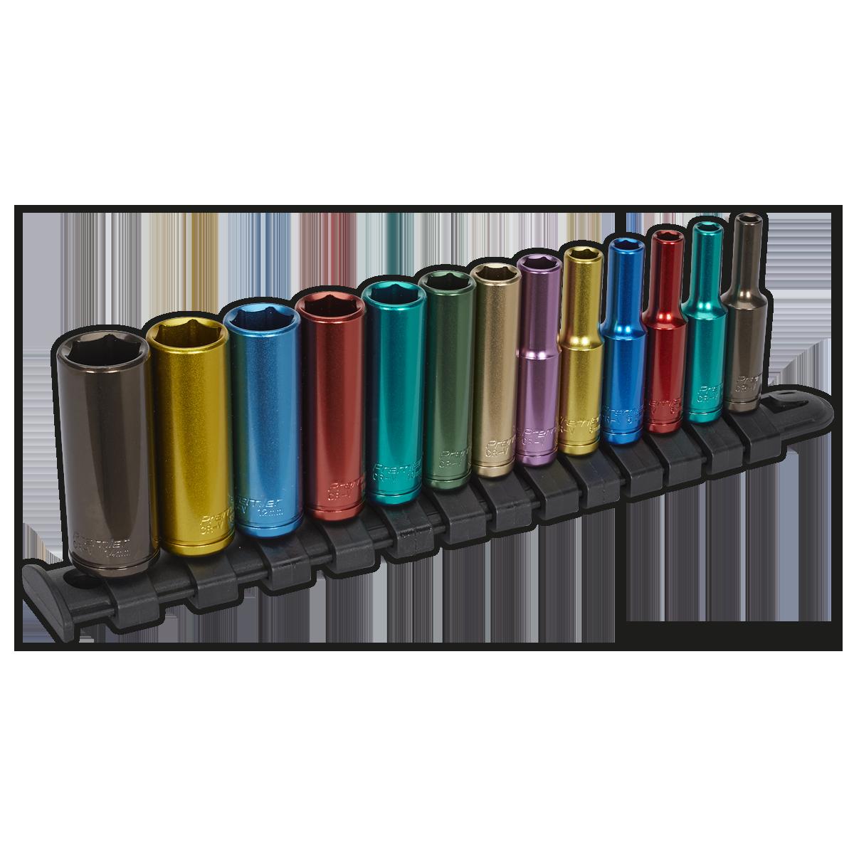 """New AK7970 Sealey PREMIER BLACK Socket Set 32pc 1//4/"""" Sq 6pt WallDrive Metric"""