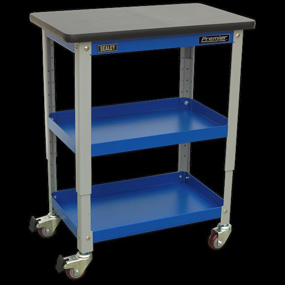 Industrial 3-Level Workshop Trolley