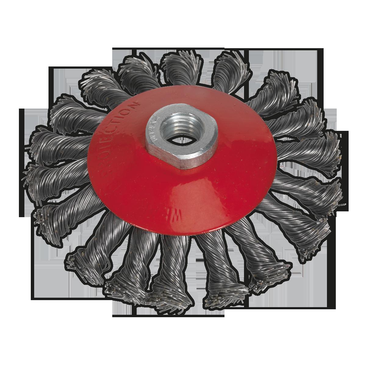 Ø115mm nylon brush wheel with M14 thread
